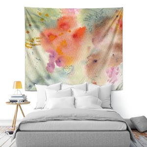 Artistic Wall Tapestry | Sheila Golden - Three Orange Flowers | Flowers Nature