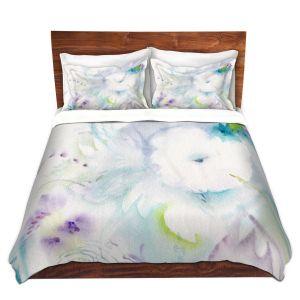 Artistic Duvet Covers and Shams Bedding   Sheila Golden - White Flower   Flowers Nature