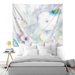 Artistic Wall Tapestry | Sheila Golden - White Flower | Flowers Nature