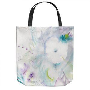 Unique Shoulder Bag Tote Bags | Sheila Golden - White Flower | Flowers Nature