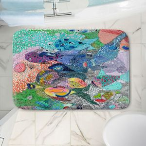 Decorative Bathroom Mats   Sonia Begley - Coral Reef 1   Colorful Abstract