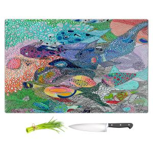 Artistic Kitchen Bar Cutting Boards | Sonia Begley - Coral Reef 1 | Colorful Abstract
