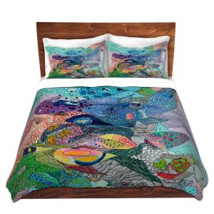 Artistic Duvet Covers and Shams Bedding   Sonia Begley - Coral Reef 1   Colorful Abstract
