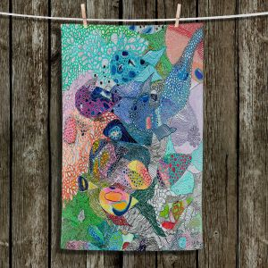 Unique Hanging Tea Towels | Sonia Begley - Coral Reef 1 | Colorful Abstract