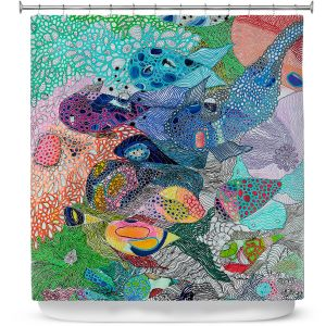Premium Shower Curtains | Sonia Begley - Coral Reef 1 | Colorful Abstract