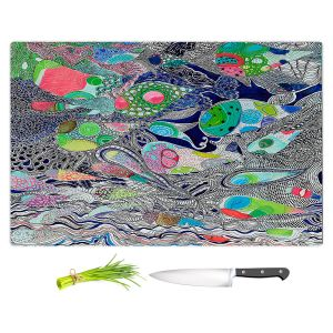 Artistic Kitchen Bar Cutting Boards | Sonia Begley - Coral Reef 2 | Colorful Abstract