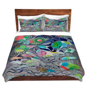 Artistic Duvet Covers and Shams Bedding | Sonia Begley - Coral Reef 2 | Colorful Abstract