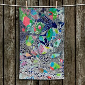 Unique Hanging Tea Towels | Sonia Begley - Coral Reef 2 | Colorful Abstract