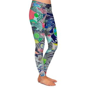 Casual Comfortable Leggings | Sonia Begley - Coral Reef 2 | Colorful Abstract