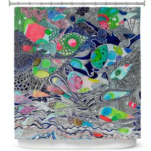 Premium Shower Curtains | Sonia Begley - Coral Reef 2 | Colorful Abstract