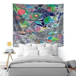 Artistic Wall Tapestry | Sonia Begley - Coral Reef 2 | Colorful Abstract