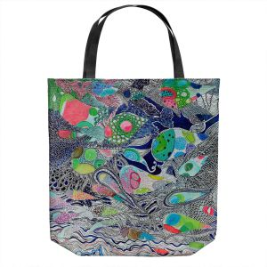Unique Shoulder Bag Tote Bags | Sonia Begley - Coral Reef 2 | Colorful Abstract