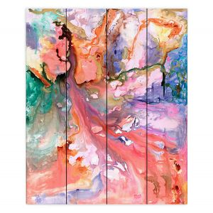 Decorative Wood Plank Wall Art | Sonia Begley - Paradise Flow | Colorful Abstract