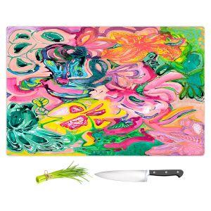 Artistic Kitchen Bar Cutting Boards   Sonia Begley - Tropical Coral Garden   Colorful Abstract beach
