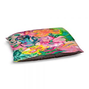 Decorative Dog Pet Beds | Sonia Begley - Tropical Coral Garden | Colorful Abstract beach