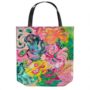 Unique Shoulder Bag Tote Bags | Sonia Begley - Tropical Coral Garden | Colorful Abstract beach