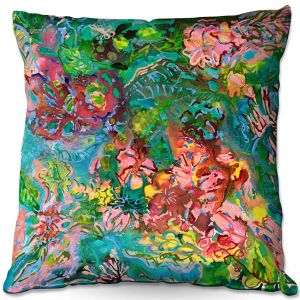 Throw Pillows Decorative Artistic | Sonia Begley - Tropical Rainforest Blooms | Jungle Flowers