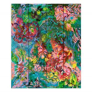 Decorative Wood Plank Wall Art | Sonia Begley - Tropical Rainforest Blooms | Jungle Flowers