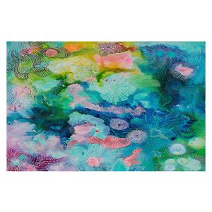 Decorative Floor Covering Mats | Sonia Begley - Underwater Coral Rainbow | Abstract Colorful