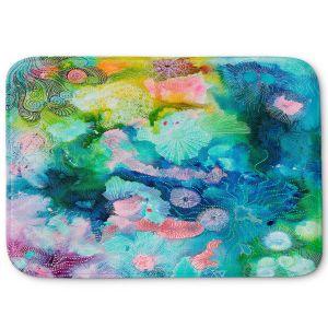 Decorative Bathroom Mats | Sonia Begley - Underwater Coral Rainbow | Abstract Colorful