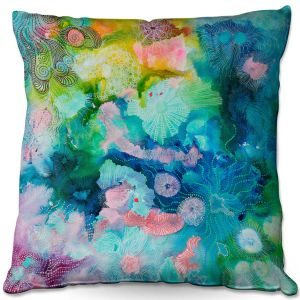 Throw Pillows Decorative Artistic | Sonia Begley - Underwater Coral Rainbow | Abstract Colorful