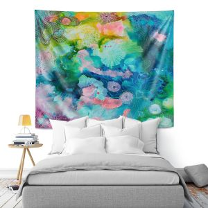 Artistic Wall Tapestry | Sonia Begley - Underwater Coral Rainbow | Abstract Colorful