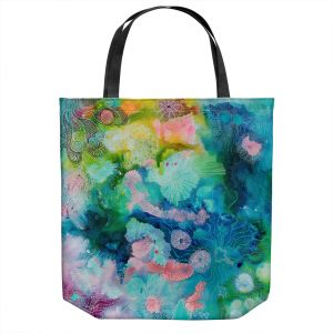 Unique Shoulder Bag Tote Bags   Sonia Begley - Underwater Coral Rainbow   Abstract Colorful
