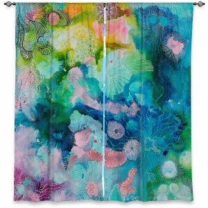 Decorative Window Treatments | Sonia Begley - Underwater Coral Rainbow | Abstract Colorful
