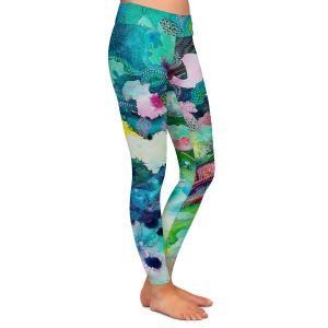 Casual Comfortable Leggings | Sonia Begley - Underwater Garden Blue Green 1 | Abstract Colorful