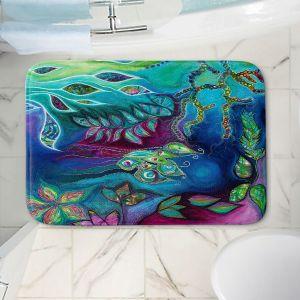Decorative Bathroom Mats   Sonia Begley - Underwater Garden Blue Green 2   Abstract Colorful