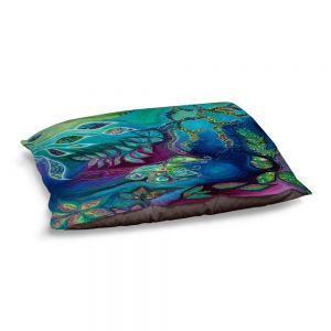 Decorative Dog Pet Beds | Sonia Begley - Underwater Garden Blue Green 2 | Abstract Colorful