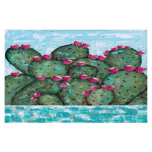 Decorative Floor Covering Mats | Sue Allemand - A Prickly Nature | Cactus Blooming