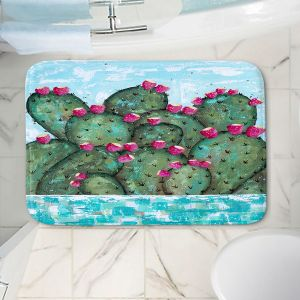 Decorative Bathroom Mats | Sue Allemand - A Prickly Nature | Cactus Blooming
