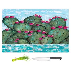 Artistic Kitchen Bar Cutting Boards | Sue Allemand - A Prickly Nature | Cactus Blooming