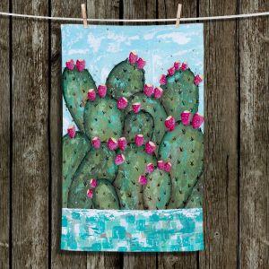 Unique Bathroom Towels   Sue Allemand - A Prickly Nature   Cactus Blooming