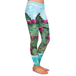 Casual Comfortable Leggings | Sue Allemand - A Prickly Nature | Cactus Blooming