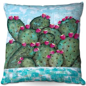 Throw Pillows Decorative Artistic | Sue Allemand - A Prickly Nature | Cactus Blooming