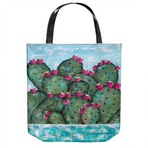 Unique Shoulder Bag Tote Bags | Sue Allemand - A Prickly Nature | Cactus Blooming