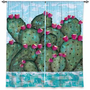 Decorative Window Treatments | Sue Allemand - A Prickly Nature | Cactus Blooming