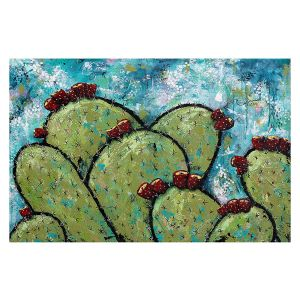 Decorative Floor Covering Mats | Sue Allemand - Along the Coast | Cactus Blooming