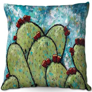 Throw Pillows Decorative Artistic   Sue Allemand - Along the Coast   Cactus Blooming