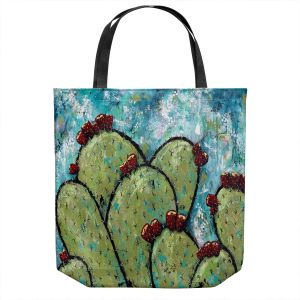 Unique Shoulder Bag Tote Bags | Sue Allemand - Along the Coast | Cactus Blooming