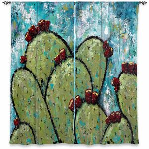Decorative Window Treatments | Sue Allemand - Along the Coast | Cactus Blooming