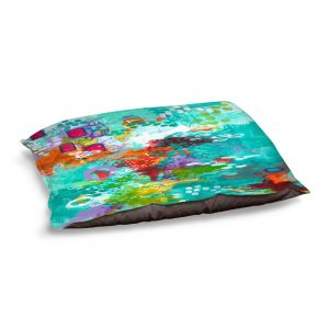 Decorative Dog Pet Beds | Sue Allemand - Climate Change | Ocean Abstract Colorful