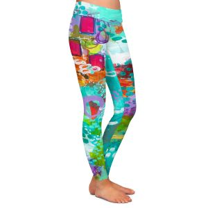Casual Comfortable Leggings | Sue Allemand - Climate Change | Ocean Abstract Colorful