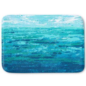 Decorative Bathroom Mats | Sue Allemand - Coastal Walk I | Ocean Abstract