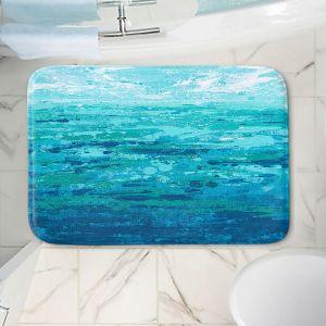 Decorative Bathroom Mats   Sue Allemand - Coastal Walk I   Ocean Abstract