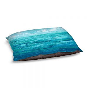 Decorative Dog Pet Beds | Sue Allemand - Coastal Walk I | Ocean Abstract