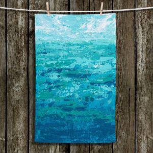 Unique Bathroom Towels   Sue Allemand - Coastal Walk I   Ocean Abstract
