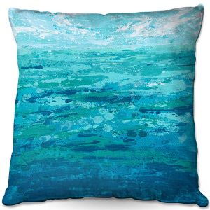 Throw Pillows Decorative Artistic | Sue Allemand - Coastal Walk I | Ocean Abstract